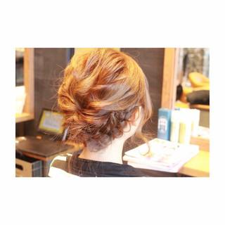 ショート 結婚式 編み込み セミロング ヘアスタイルや髪型の写真・画像