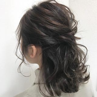 ヘアアレンジ フェミニン 結婚式 簡単ヘアアレンジ ヘアスタイルや髪型の写真・画像