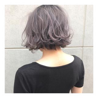 ブリーチ ボブ ストリート ショートヘア ヘアスタイルや髪型の写真・画像