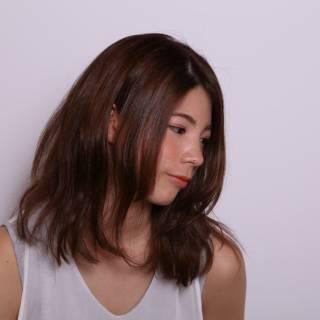 ミディアム 卵型 コンサバ モテ髪 ヘアスタイルや髪型の写真・画像