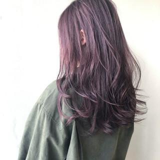 ダメージレス ラベンダーピンク 透明感 ナチュラル ヘアスタイルや髪型の写真・画像