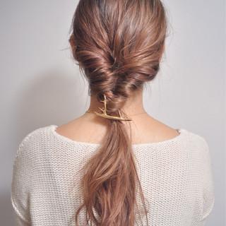 ロング グラデーションカラー 大人かわいい ハーフアップ ヘアスタイルや髪型の写真・画像