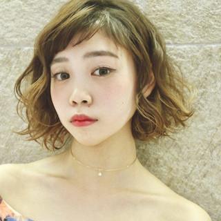 かわいい ボブ 大人女子 パーマ ヘアスタイルや髪型の写真・画像