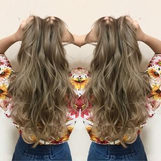 ガーリー 女子会 涼しげ セミロング ヘアスタイルや髪型の写真・画像