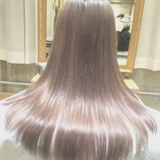 ハイトーン ロング 外国人風 春 ヘアスタイルや髪型の写真・画像