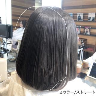前髪 縮毛矯正 グレージュ 髪質改善 ヘアスタイルや髪型の写真・画像