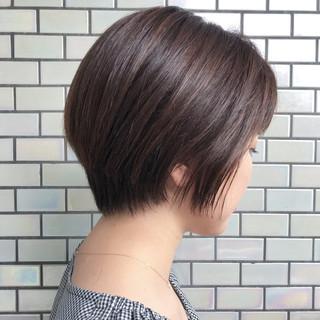 マッシュショート ナチュラル ショートボブ ショートヘア ヘアスタイルや髪型の写真・画像