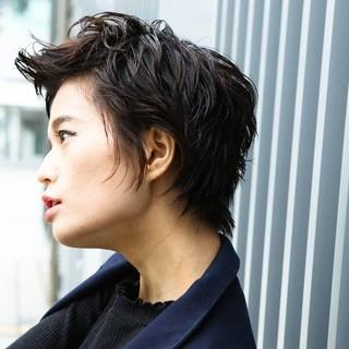 大人ヘアスタイル PEEK-A-BOO 似合わせカット ハンサムショート ヘアスタイルや髪型の写真・画像 ヘアスタイルや髪型の写真・画像