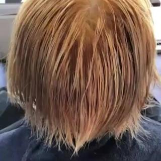 ガーリー ショート 外国人風 ダブルカラー ヘアスタイルや髪型の写真・画像