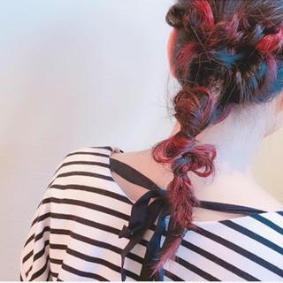 セミロング 簡単ヘアアレンジ ヘアアレンジ 外国人風 ヘアスタイルや髪型の写真・画像