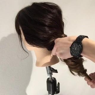 ナチュラル 簡単 ポニーテール 簡単ヘアアレンジ ヘアスタイルや髪型の写真・画像