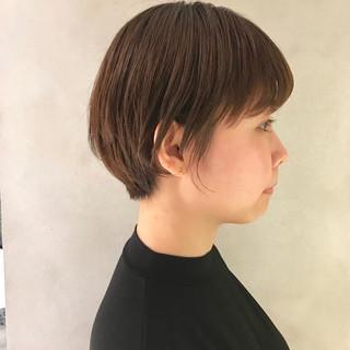 ナチュラル 透け感ヘア ショート 抜け感 ヘアスタイルや髪型の写真・画像