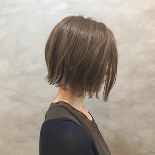 ナチュラル 切りっぱなしボブ N.オイル ボブ ヘアスタイルや髪型の写真・画像