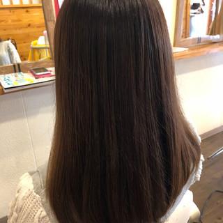 ナチュラル ストレート ロング 暗髪 ヘアスタイルや髪型の写真・画像