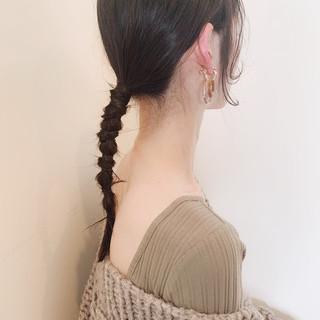 大人かわいい セミロング ウルフカット 簡単ヘアアレンジ ヘアスタイルや髪型の写真・画像