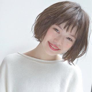 ボブ ミルクティー ガーリー 春 ヘアスタイルや髪型の写真・画像