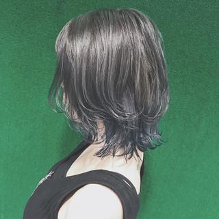ウルフカット 外国人風カラー ミディアム マッシュ ヘアスタイルや髪型の写真・画像 ヘアスタイルや髪型の写真・画像