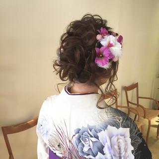 アンニュイほつれヘア 卒業式 結婚式 成人式 ヘアスタイルや髪型の写真・画像