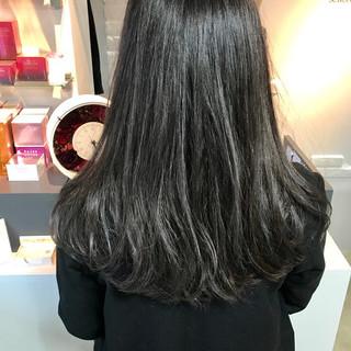 ワンカール 暗髪 ダークアッシュ かわいい ヘアスタイルや髪型の写真・画像