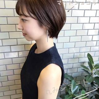 デート ベリーショート ナチュラル ショートヘア ヘアスタイルや髪型の写真・画像