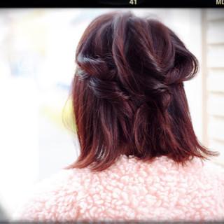 大人女子 かわいい ピンク ボブ ヘアスタイルや髪型の写真・画像 ヘアスタイルや髪型の写真・画像