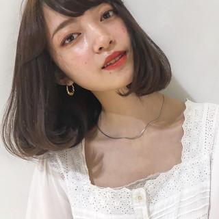 タンバルモリ フェミニン 韓国ヘア シースルーバング ヘアスタイルや髪型の写真・画像