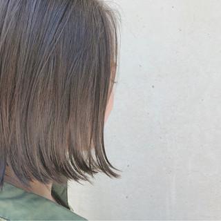 オフィス ガーリー ブリーチなし ボブ ヘアスタイルや髪型の写真・画像