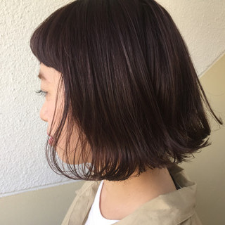 ボブ 抜け感 外国人風カラー グレージュ ヘアスタイルや髪型の写真・画像