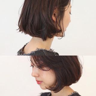 ウェーブ 黒髪 アンニュイ オフィス ヘアスタイルや髪型の写真・画像