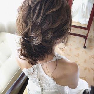 フェミニン ゆるふわ 結婚式 アンニュイ ヘアスタイルや髪型の写真・画像