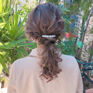 ナチュラル デート セミロング 結婚式 ヘアスタイルや髪型の写真・画像 ヘアスタイルや髪型の写真・画像