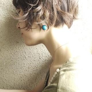 ショートボブ 女子力 上品 小顔 ヘアスタイルや髪型の写真・画像