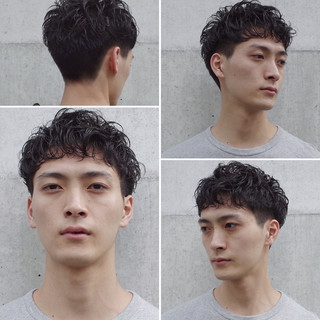 メンズヘア ショート メンズパーマ ツーブロック ヘアスタイルや髪型の写真・画像