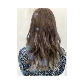 外国人風 イルミナカラー ストリート ブラウン ヘアスタイルや髪型の写真・画像