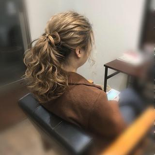ヘアセット ヘアアレンジ りぼん ガーリー ヘアスタイルや髪型の写真・画像 ヘアスタイルや髪型の写真・画像