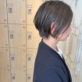 ナチュラル ショート ショートボブ 小顔ショート ヘアスタイルや髪型の写真・画像