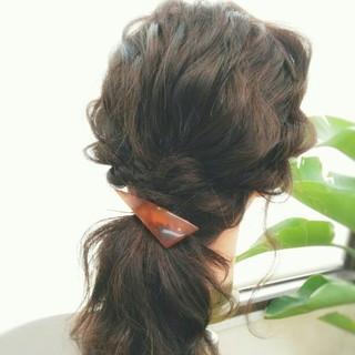 ショート 夏 セミロング ゆるふわ ヘアスタイルや髪型の写真・画像 ヘアスタイルや髪型の写真・画像