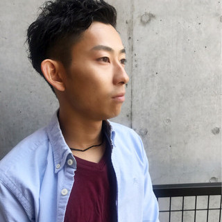 メンズ ストリート モテ髪 黒髪 ヘアスタイルや髪型の写真・画像