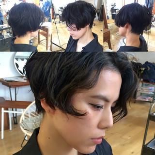 黒髪 前髪あり かっこいい ショート ヘアスタイルや髪型の写真・画像