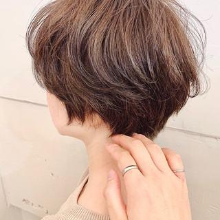 ショートボブ ショート ナチュラル ベリーショート ヘアスタイルや髪型の写真・画像