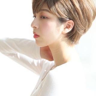 大人かわいい 横顔美人 ショート デート ヘアスタイルや髪型の写真・画像 ヘアスタイルや髪型の写真・画像