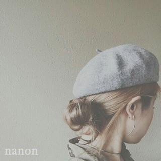 ヘアアレンジ ストリート 大人女子 ベレー帽 ヘアスタイルや髪型の写真・画像