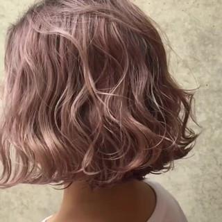 ピンク ラベンダーピンク ベージュ 外国人風カラー ヘアスタイルや髪型の写真・画像
