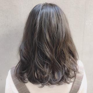 ゆるふわ 大人かわいい ミディアム デート ヘアスタイルや髪型の写真・画像
