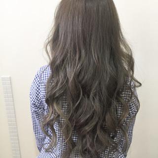 ロング アッシュ 外国人風 ハイライト ヘアスタイルや髪型の写真・画像
