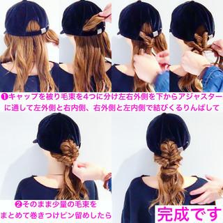 ロング ヘアアレンジ フェミニン 簡単ヘアアレンジ ヘアスタイルや髪型の写真・画像