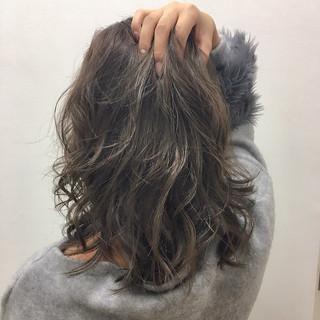 外国人風 暗髪 切りっぱなしボブ 透明感 ヘアスタイルや髪型の写真・画像