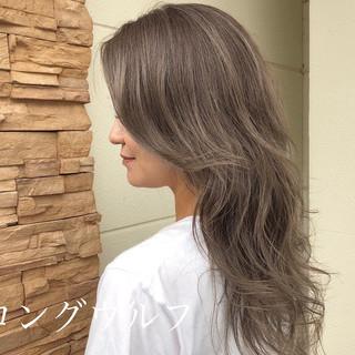 ロング ストリート 大人ハイライト ロングヘアスタイル ヘアスタイルや髪型の写真・画像