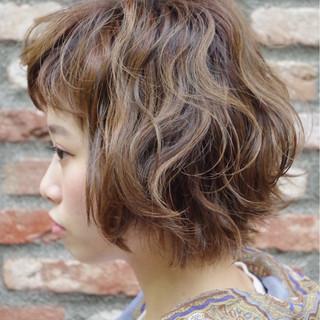 ピュア ボブ ヘアアレンジ ハイライト ヘアスタイルや髪型の写真・画像