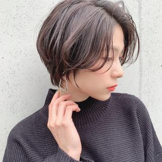 小顔ヘア ショートヘア 大人可愛い ショート ヘアスタイルや髪型の写真・画像